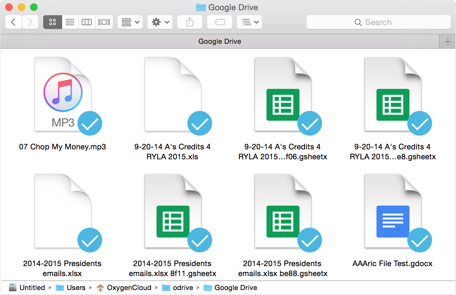 Access all the Google Doc files